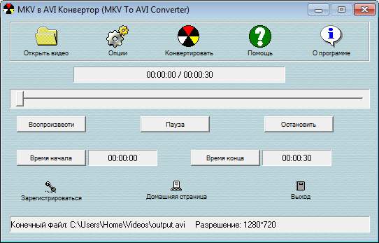 MKV to AVI Converter
