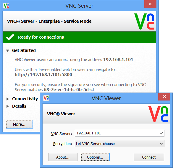 realvnc server viewer